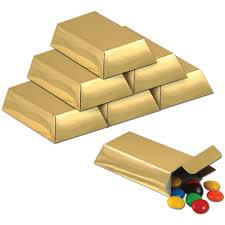 Minecraft Party Decorations 12 Small Gold Bar Party Favor Treat Boxes Kids Party Supplies