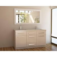Design Element Moscony 60 in. W x 22 in. D Double Vanity in White ...