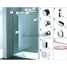 sliding glass shower door handles sliding glass shower doors whole set hardware stainless steel frameless sliding
