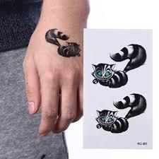 1 лист медведь тату стикеры черный енот водонепроницаемый стикеры S тела книги по