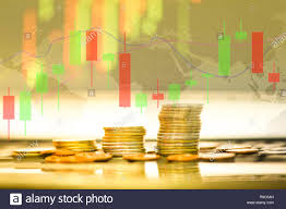 Live Gold Price Candlestick Chart Stock Forex Trading Gold Coin Investment Business Graph