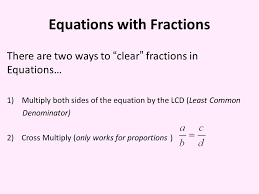 5 equations with fractions