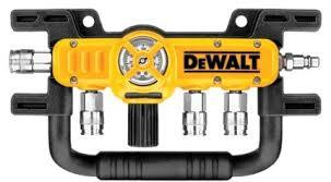 dewalt tools. dewalt d55040 quadraport air line splitter with regulator dewalt tools