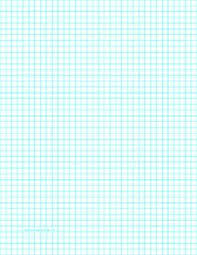 graph paper download this letter sized graph paper has four aqua blue lines every inch