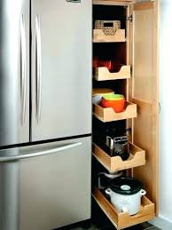 roll out pantry next to fridge pull shelves narrow sh home improvement contractor i roll out pantry next to fridge