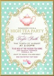 Tea Invitations Printable Tea Party Birthday Invitations Printable Tea Party Birthday
