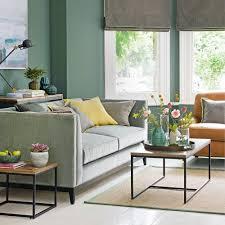 green living room ideas green sofa