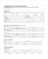 Free 16 Sample Lease Application Forms In Pdf Word