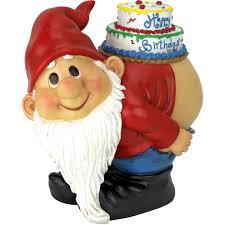 design toscano loonie moonie happy birthday garden gnome statue