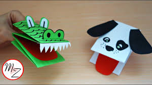 How To Make A Hand Puppet From One Sheet Of Paper Animal Hand Puppets Diy Maison Zizou