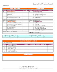 Data Analysis Report Template Interesting Cost Analysis Format