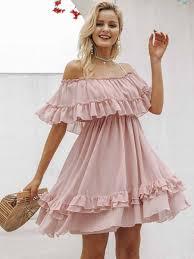 <b>Elegant</b> ruffle off shoulder women dress <b>Spaghetti strap chiffon</b> ...