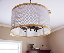 knuckle salad s diy drum shade is made from embroidery hoops and radiator grates