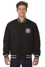 Jh Design Nba Jackets J H Design Brooklyn Nets Nba Jacket Wool Nylon Reversible