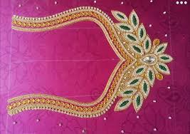 Saree Blouse Hand Work Designs Hand Work Blouse Design Maggam Work Blouse Design Stone