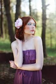 Image result for girl with red hair, purple dress