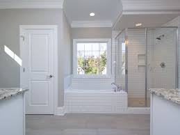 bathroom crown molding. Traditional Master Bathroom With Rain Shower Head Crown Molding