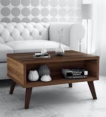 arata coffee table with storage slot