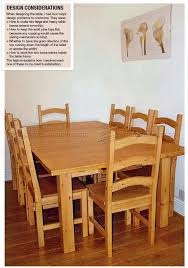 pine dining table and chairs plans