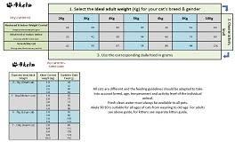 Cat Feeding Chart By Age Feeding Guide
