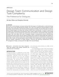 Loughborough University Architectural Engineering And Design Management Pdf Design Team Communication And Design Task Complexity