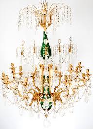russian rock crystal chandelier mid 19th century