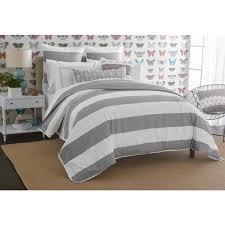 undefined cabana stripe white and gray king duvet