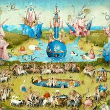 garden of earthly delights poster. Poster Garden Of Earthly Delights, Mankind Before The Flood (detail) Delights