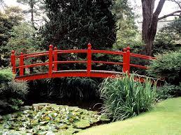 Lawn & Garden:Small Stone Bridge In Japanese Garden Idea Elegant Red  Japanese Garden Bridge