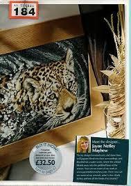 Cross Stitch Chart Jungle Jaguar Big Cat By Jayne Netley