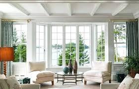 bay window furniture arrangement sofas