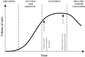 Business Lifecycle Model And Position Of Different Small