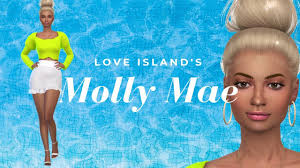 THE SIMS 4 CAS: Love Island's Molly-Mae Hague | CC List included. - YouTube
