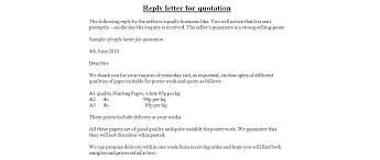 Sample Quotation Letter in Doc      Examples in Word Sample Quotation Letter Free