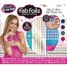 Foilz Hair Design Buy Cra Z Art Fab Foilz Jewelry Glitz N Glam Foil Tattoo Set Box Cra Z Art Delivered To Your Home The Outfit
