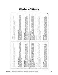 works of mercy worksheet 7 corporal works of mercy p l top 2018