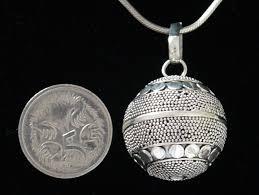 20mm boho silver harmony ball compared with an australian 5 cent piece kaftan bazaar