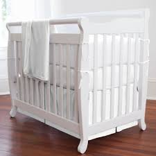 solid white mini crib bedding