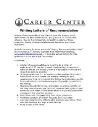 Decline To Write A Letter Of Recommendation The Effective Medical School Letter Of Recommendation Writing At Byu