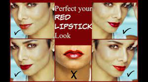 perfect red lips makeup up tutorial