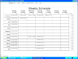 Monthly Schedule Excel Template Monthly Schedule Template