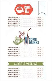 French And Restaurant Menu Template A Food Drink Word Wedding