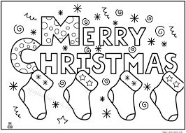 Small Picture Merry christmas coloring pages for kids