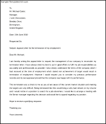 appeal letter for termination of employment 8 appeal termination letter bursary cover letter