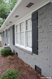 painting home exterior diy. painted-brick-exterior diy shutters painting home exterior d