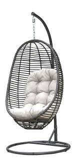 panama jack graphite wicker hanging chair with stand hanging wicker chairs patio accessories wicker com