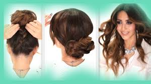 Second Day Curly Hairstyles 3 Easy Hairstyles School Braids Curls Messy Bun Hairstyle