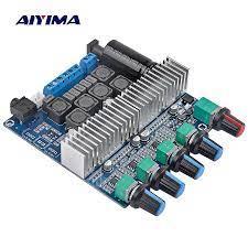 AIYIMA TPA3116 Subwoofer Verstärker Bord 2,1 HIfi High Power Stereo Amp  DC12V 24V 2*50W + 100W Bass amplificador für Lautsprecher DIY|bass  board|power amplifiertpa3116d2 2.1 - AliExpress