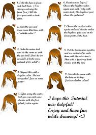 requested 9 steps hair tutorial paint tool sai by ikkie chan