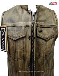 mens dark brown leather biker jacket